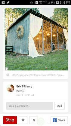 Pole barn wedding venue
