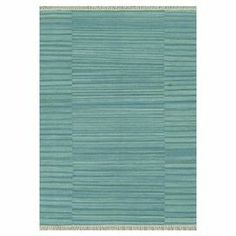 Wool flatweave rug with a tonal stripe motif.   Product: RugConstruction Material: 100% WoolColor: AquaFeatures: Handmade   Note: Please be aware that actual colors may vary from those shown on your screen. Accent rugs may also not show the entire pattern that the corresponding area rugs have.Cleaning and Care: Spot clean as needed. Professional cleaning recommended.