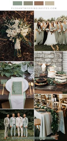 weddings ideas sage green, grey and greenery rustic neutral wedding color combos Do You Know How To Wedding Table Decorations, Wedding Centerpieces, Wedding Bouquets, Wedding Cakes, Neutral Wedding Colors, Wedding Color Schemes Fall Rustic, Emerald Wedding Colors, Sage Green Wedding, Green Spring Wedding