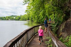 Take a walk at the Ijams Nature Center - one of the best outdoors things to do in Knoxville, Tennessee