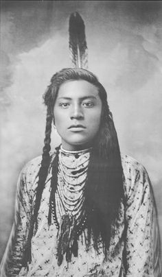 Young Curly or Curley (Ashishishe) (c1856-1923). Crow Indian (Montana). Active warrior against Sioux enemies. Scout for the U.S. Army. - Photographer not known - No date. - (Original)
