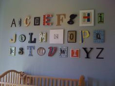 I love these creative ABC's! I'll have to come up with my own set for my baby's room.