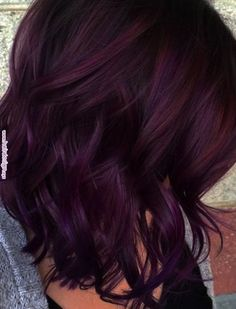 Mane Addicts How To Wear Blackberry Hair Color Trend - Mane Addicts | Watch Me Snip, Watch Me Spray, Spray! in 2019 | Pinterest | Hair, Hair Color and