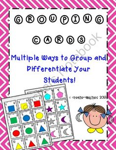 FREE!  Differentiated Grouping Cards! from Create abilities on TeachersNotebook.com -  (6 pages)  - FREE!  Differentiated Grouping Cards!