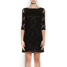 Lace Overlay Dress Black, $89, now featured on Fab.