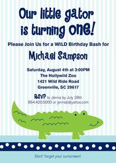 Alligator party package alligator baby shower alligator birthday alligator party package alligator baby shower alligator birthday party diy choose 8 items 4000 via etsy roberts 1st birthday party filmwisefo