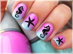 sexy Summer Beach Nails Art Designs 2014