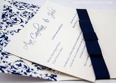 Convite de Casamento com arabesco - Galeria de Convites