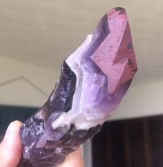 Ethically Sourced 1 CHEVRON AMETHYST Namibia 1 Inch Tumbled Stone