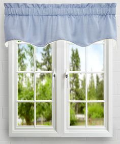 Landis Mini Check Textured Weave Duchess Filler Lined Curtain Valance