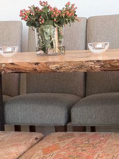 Tamara Stephenson interior design chairs restoration hardware.  custom made table for client New York City