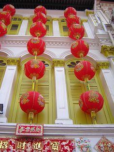 Lanterns in Chinatown, Singapore (March Singapore Sights, Singapore Malaysia, Singapore Travel, Wanderlust Singapore, Singapore Vacation, Places Around The World, Around The Worlds, Places To Travel, Places To Go
