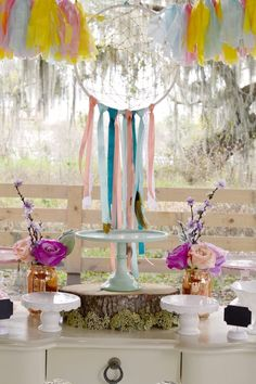 Decor from a Pocahontas Indian Boho Birthday Party via Kara's Party Ideas | KarasPartyIdeas.com (8)