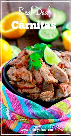 Real Deal Carnitas - savorylotus.com *need a heavy dutch oven to cook this!