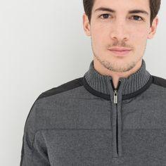 d81e665c56fdd Pull col montant zippé avec applications - image 3 Male Fashion