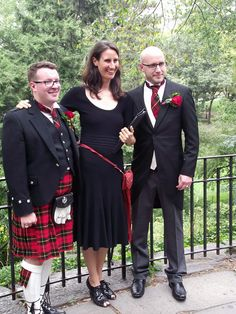 Scottish themed gay wedding performed by Jester of the Peace