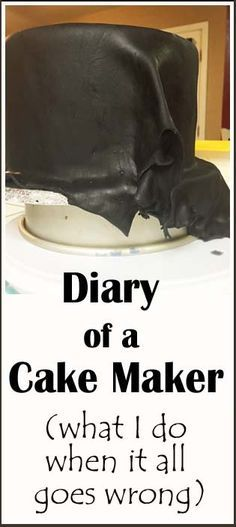 Cake Diary #1 Cake Fix. What I do when it goes wrong!