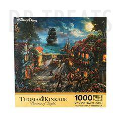 Disney Parks Exclusive Thomas Kinkade Pirates of The Caribbean 1000 Piece Puzzle