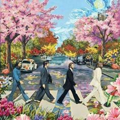 ABBEY ROAD IN SPRING TIME