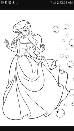 ariel coloring pages | disney coloring pages | pinterest | ariel ... - Coloring Pages Ariel A Dress