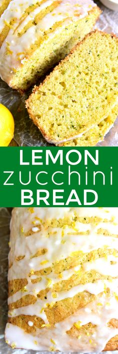 This Lemon Zucchini Bread combines two favorites in one delicious loaf of bread! This quick snack or easy breakfast idea is a great way to sneak in extra veggies and will be a favorite with the whole family. Easy No Bake Desserts, Best Dessert Recipes, Brunch Recipes, Breakfast Recipes, Delicious Recipes, Dinner Recipes, Delicious Appetizers, Brunch Ideas, Citrus Recipes