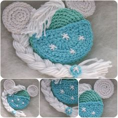 I think that all small girls are princesses. But all girls adore princesses. Elsa and Anna are very loved by my small girl. My boy loves her too! Crochet Mickey Mouse, Crochet Disney, Minnie Mouse, Doll Amigurumi Free Pattern, Crochet Toys Patterns, Crochet Stitches, Knitting Patterns, Mickey Mouse Ornaments, Christmas Ornaments