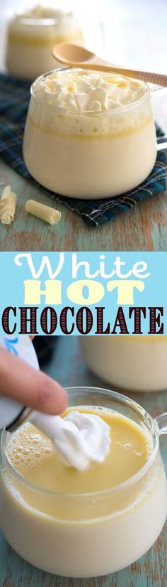 Add a little peppermint flavor and coffee for a DIY white mocha! Add a little peppermint flavor and coffee for a DIY white mocha! Yummy Drinks, Delicious Desserts, Dessert Recipes, 4 Ingredient Recipes, Party Food And Drinks, Hot Chocolate Recipes, White Mocha, Everyday Food, Pinterest Recipes