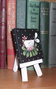 Hand Painted Mini Canvas & Easel Funky by ToletallyPainted