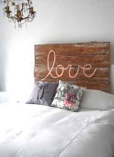 Love the idea of this headboard