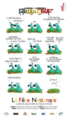 "20/07/2009 - Fête des belges ""Froud & Stouf""  Design: Jannin et Liberski Design, Winter Games, Gaming, Design Comics"