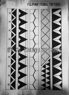 Contemporary Filipino Tribal Tattoo design