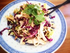 ... Chopped Cabbage Salad --fresh, healthy and full of awesome flavors