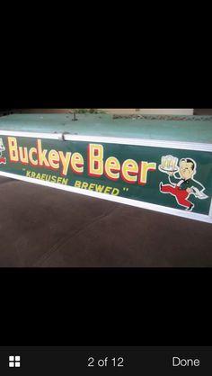 Buckeye Beer Pool Table Light Sign