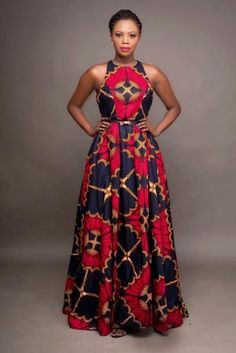 """Oye"" which means throne is geared to bring out the queen in you! You're sure to feel royal in this beautiful hand-made African -print inspired dress. It's like wearing a work of art for sure. Round neck inches long Fully lined Back zipper 2 side po African Maxi Dresses, Ankara Dress, African Attire, African Outfits, African Formal Dress, Shweshwe Dresses, Latest African Fashion Dresses, African Dresses For Women, African Fashion Designers"