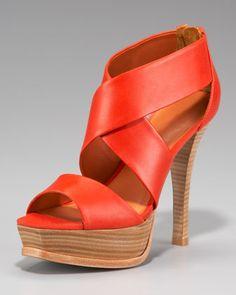Crisscross Platform Sandal by Pour la Victoire at Neiman Marcus.