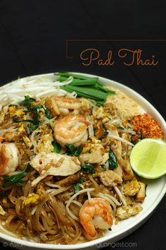 "Pad Thai I'm so excited about this recipe, because my hubby was AMAZED with my Pad Thai recipe. When he had the first bite, he was like ""this is the best pad thai I've ever had!"" Make the BEST Thai recipe at home! - The BEST Pad Thai Recipe! Thai Cooking, Asian Cooking, Cooking Recipes, Healthy Recipes, Cooking Games, Healthy Thai Food, Vegetarian Asian Recipes, Vegetarian Pad Thai, Best Thai Food"