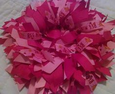 VALENTINES DAY PRESENT Ribbon Wreath instead of by NannysSurprise