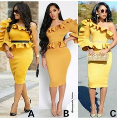 """2,174 Likes, 105 Comments - Nigeria Fashion Police (@nigeriafashionpolice) on Instagram: """"Who wore it best? A, B or C Pic from @sassypearls_fashion"""""""
