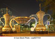 Arabic coffee pots at park entrance in abu dhabi. Unusual Buildings, Beautiful Buildings, Beautiful Places, Amazing Places, Dubai City, Dubai Uae, Abu Dhabi, Places To Travel, Places To Visit