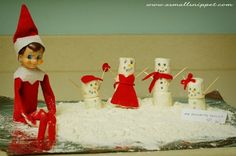 snowman family elf on the shelf