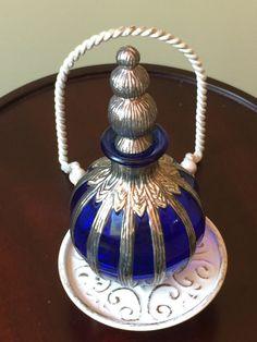 Lovely 5 tall Silvestri Cobalt Blue Perfume by GenevasTreasures