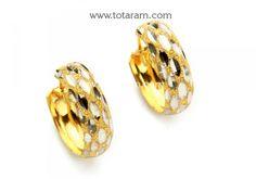Gold Hoop Earrings (Ear Bali) in 22K Gold: Totaram Jewelers: Buy Indian Gold jewelry & 18K Diamond jewelry