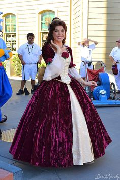 Belle from Beauty and the Beast in her Christmas dress - my favorite!