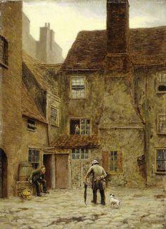 The Backyard of the 'Queen's Head Inn', 105, Borough High Street, Southwark…