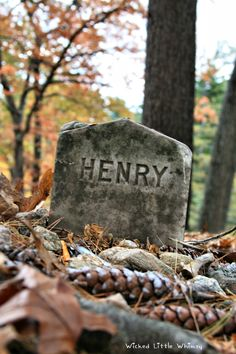 "The Humble Grave of author Henry David Thoreau. [Not your usual Hallowe'en captures. ""The Ten"" is a project I started to invite myself to go back through the things I've pinned and find an unusual point of view. Pinterest is one of the discovery tools I use to inspire my writing. ""The Ten"" is a way of focusing on a theme that captures my imagination at the time, and distilling the stories that lie hidden within the ten evocative pictures I chose for each board. - Eve.] #Halloween #TheTen"