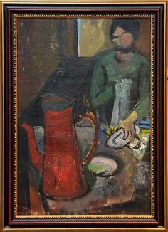 73 - Þorvaldur Skúlason (1906-1984)  After - 1934 - Olía - 90x62 cm - Merkt  Verðmat: 900.000 - 1.000.000