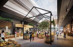 The Glen's new fresh food market hall to be unveiled Shopping Mall Interior, Retail Interior, Interior Shop, Interior Paint, Commercial Interior Design, Commercial Interiors, The Glen Shopping Centre, Fresh Food Market, Open Market