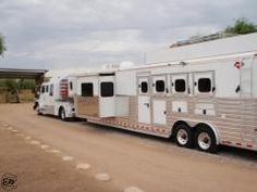 2007 Hart 4 Horse 18' Outlaw Conversion Living Quarter Horse Trailer - EquineRV.com