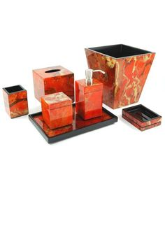 Ordinaire Luxury Bathrooms, Orange Flame High Gloss Bathroom Set, At InStyle Decor  Beverly Hills Hollywood