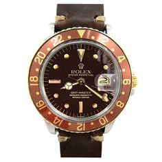 Rolex Steel & Gold Gmt-Master Rootbeer Dial circa 1970's
